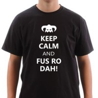 T-shirt Fus Ro Dah!