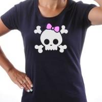 T-shirt Girl Skull