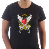 T-shirt Heart And Guns
