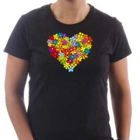 T-shirt Heart of flowers