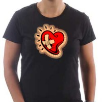 T-shirt Heart with a bandage