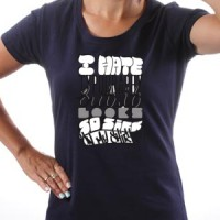 T-shirt I Hate Typeography