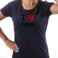 T-shirt I Love Nerds!