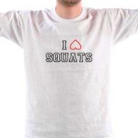 T-shirt I Love Squats