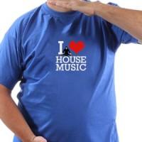 T-shirt L love house music