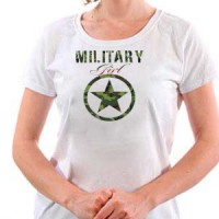 T-shirt Military Girl
