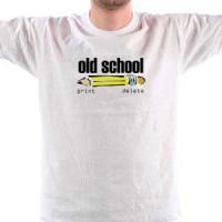T-shirt Old School Print