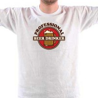 T-shirt Professional beer drinker