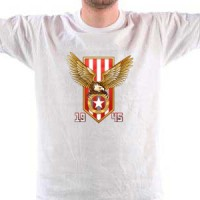 T-shirt Red And White Eagle