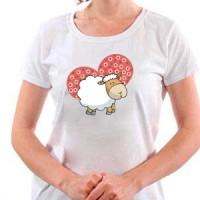 T-shirt Sheep And Heart