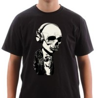 T-shirt Skull And Headphones