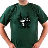 T-shirt Skull With Wings