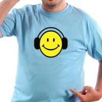 T-shirt Smiley With Headphones