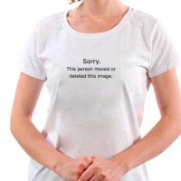 T-shirt Sorry.