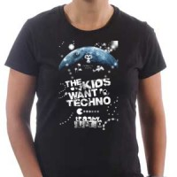 T-shirt The Kids Want Techno