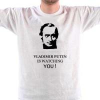 T-shirt Vladimir Putin is watching You.