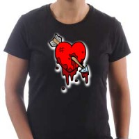 T-shirt Wounded heart