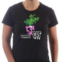 T-shirt Zombie Cat