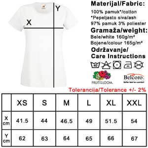 Veličine majica